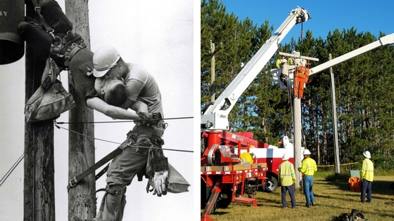 pole top rescue training in the past and present